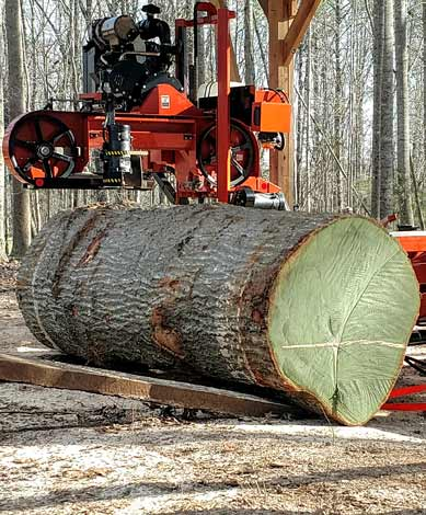 Portable Mobile Sawmill Service in North Carolina